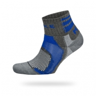 Blue/ grey ankle sock