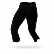 Woman black sport tights