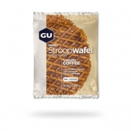 GU Energy Stroopwaffel made with layers of syrup between two thin wafers