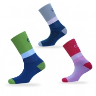 Colour tiered socks