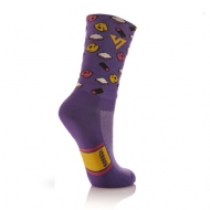 Purple sock with sweet images