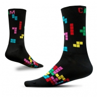black and colour block socks