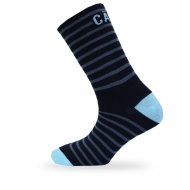Black/ blue striped socks