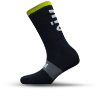 Black with green stripe socks