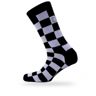 White/black block socks