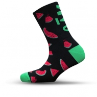 black sock with watermelon pictures