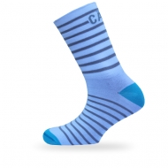 Blue grey stripe sock