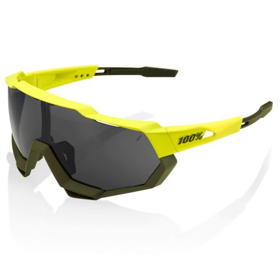 100% SpeedTrap Cycling Sunglasses Yellow Frame