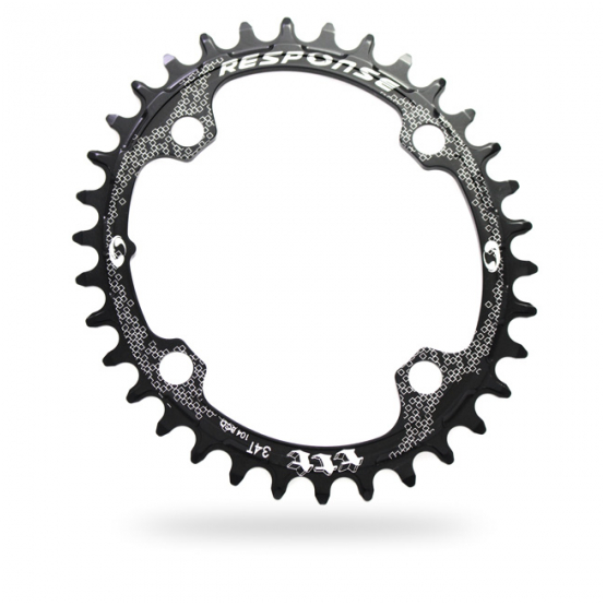 RESPONSE Thick Thin Oval Chainring (104 BCD)