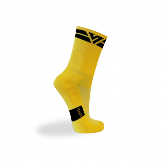 Black and yellow sock