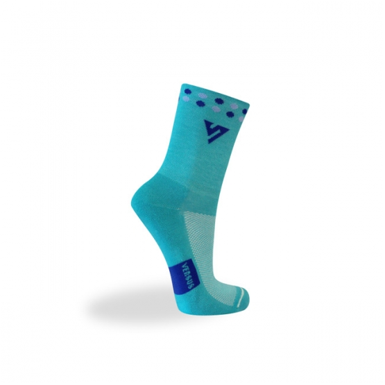 Sock with shades of blue