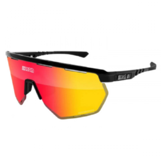 Scicon Black Gloss Aerowing MLS Red Sunglasses