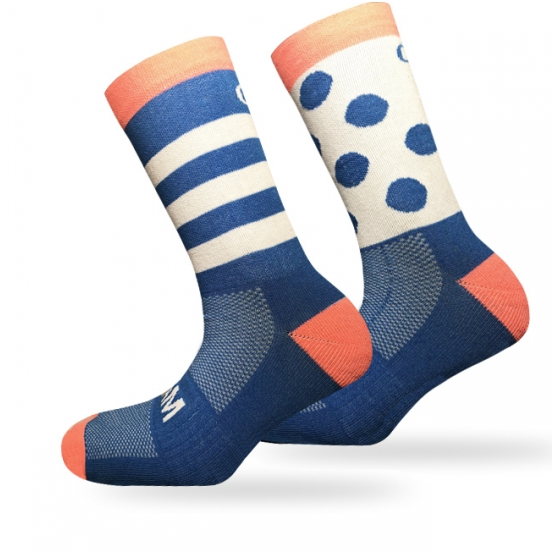 CAM BE DIFFERENT Socks (Blue/Coral)