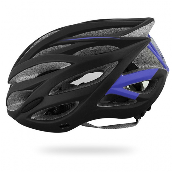 Black/ purple flash helmet